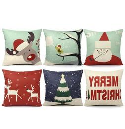 Christmas Throw Pillow Cover Set Holiday Pattern Multi Set o
