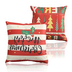 Christmas Throw Pillows Cotton Linen Home Decorative Sofa Wa