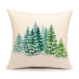 4TH Emotion Christmas Tree Throw Pillow Cover Cushion Case f