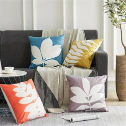 Colorful Tropical Plant Leaves Throw Pillowcases Home Decor