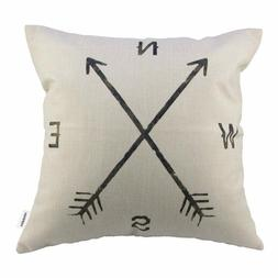 """Compass Design 18"""" x18"""" Throw Pillow for the Man Cave"""