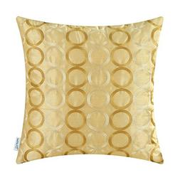 CaliTime Faux Silk Throw Pillow Cover Case for Couch Sofa Ho