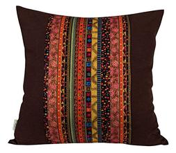 BLUETTEK Cotton Canvas Square Decorative Bohemian Style Thro
