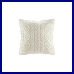 DOKOT Cable Knit Throw Pillow Cover Sweater Knitting Square