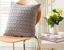 CottonTex SALES! Cotton Knitted Decorative Cushion Cover Cab