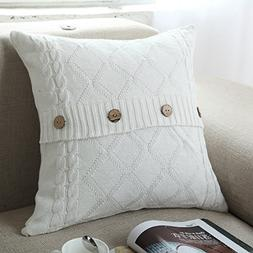 U'Artlines Cotton Knitted Decorative Pillow Case Cushion Cov