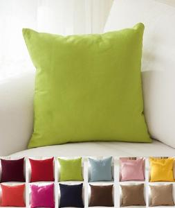 """TangDepot Cotton Solid Throw Pillow Covers, 20"""" x 20"""" , Appl"""