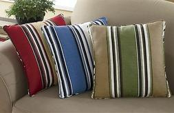 Cotton Striped Decorative Throw Pillows/Cushions in 5 assort