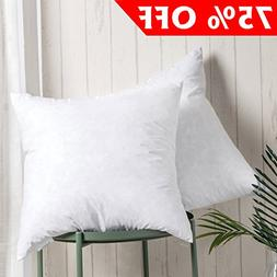 100% Cotton Throw Pillow Inserts - Sham Stuffer Filled with