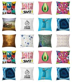 Ambesonne Couch & Bed Decor Square Throw Pillow Case with Zi