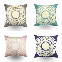 Hodeco Embroidery Throw Pillow Covers 18x18 Bedroom Decorati
