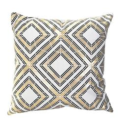 GBSELL Pillow Cover Gold Foil Printing Bright Pillow Case So