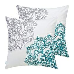 CaliTime Pack of 2 Cozy Fleece Throw Pillow Cases Covers Cou