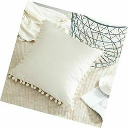 Top Finel Cream Decorative Throw Pillow Covers 26 x 26 Inch