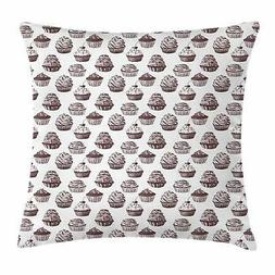 Cupcake Throw Pillow Cases Cushion Covers Home Decor 8 Sizes