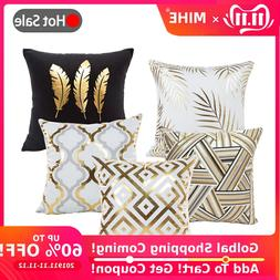 MIHE Cushion Cover 45*45cm Gold Linen Cotton Soft <font><b>T