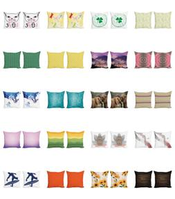 Cushion Cover Set of 2 for Couch and Bed in 4 Sizes by Ambes