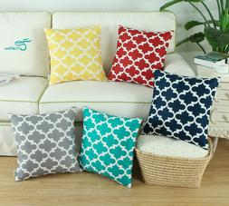 CaliTime Cushion Cover Throw Pillows Shell Geometric Home So