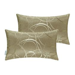 Pack of 2 CaliTime Cushion Covers Bolster Pillow Covers Case