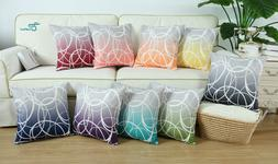 CaliTime Cushion Covers Pillow Shells Modern Gradient Ombre