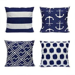 4 Pack FanHomcy Cushion Covers Simple Geometric Decorative T
