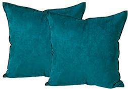 2-Pack Cushion Covers Comfortable Faux Suede Decorative Thro