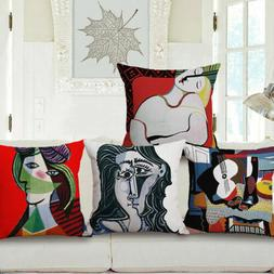 Cushion Picasso Throw 18''x18'' Decorative Case Cover Abstra