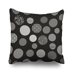 Custom Black White Patterned Circles Geometric Seamless Houn