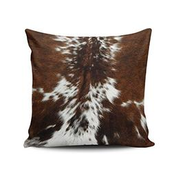 Salleing Custom Fashion Home Decor Pillowcase Brown and Whit