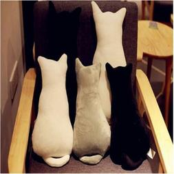 Cute Cat Shape Shadow Decor Waist Throw Back Rest Pillow Cus