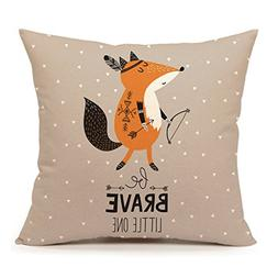 Cute Indian Fox Throw Pillow Cover Inspirational Quote Nurse