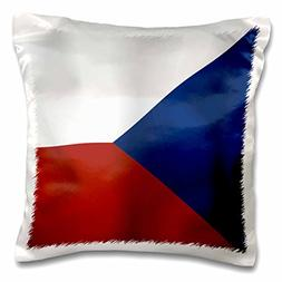 3dRose Czech Republic Flag, Pillow Case, 16 by 16-inch
