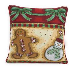 DaDa Bedding Gingerbread Christmas Festive Winter Throw Pill
