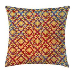 Ambesonne Damask Throw Pillow Cushion Cover, Victorian Era C