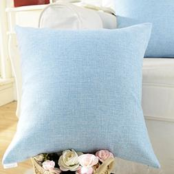 Home Brilliant Spring Decoration Lined Linen Square Throw Pi