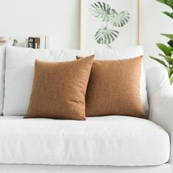 Kevin Textile Decor Lined Linen Throw Pillow Cases Cushion C