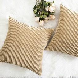 Home Brilliant Decor Throw Pillow Cover Set Taupe Set Of 2 1