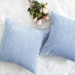 HOME BRILLIANT Decor Throw Pillow Cover Set Solid Supersoft