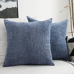 HOME BRILLIANT Decor Throw Pillow Covers Supersoft Chenille