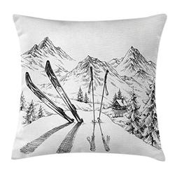 Ambesonne Sports Decor Throw Pillow Cushion Cover by, Winter