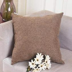 HOME BRILLIANT Spring Decoration Linen Square Throw Cushion