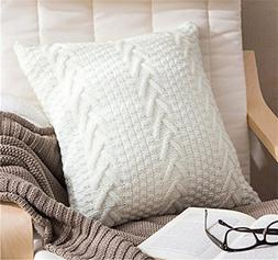 Decorative Cotton Knitted Pillow Case Cushion Cover Double-C
