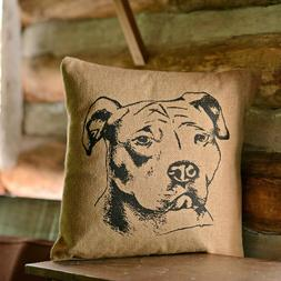 VHC Brands Classic Country Holiday Throws-Dog Pillow Tan, 16