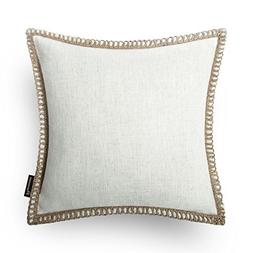 Phantoscope Farmhouse Burlap Linen Trimmed Tailored Edges Th