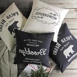 PHANTOSCOPE Decorative Farmhouse Throw Pillow Cover Brooklyn