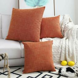 Kevin Textile Decorative Hand Made Faux Linen Throw Pillow C