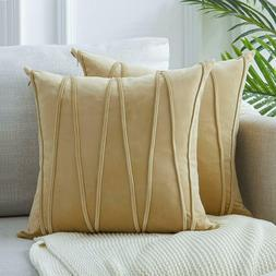 Top Finel Decorative Hand-Made Throw Pillow Covers 18 x 18 I