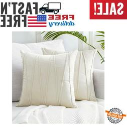 """Top Finel Decorative Hand-Made Throw Pillow Covers Soft 18""""x"""