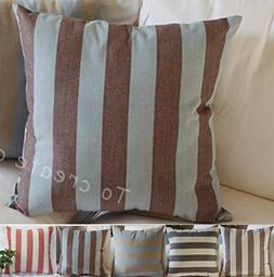 TangDepot Decorative Handmade Striped Cotton Throw Pillow Co