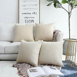 HOME BRILLIANT Decorative Lined Linen Throw Pillow Cases Bur